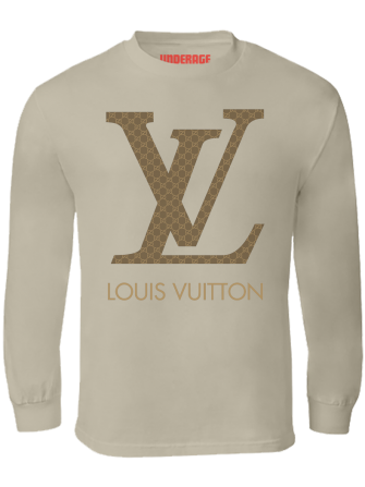 9039de1b Gucci Vuitton L/S T-Shirt (Sand)