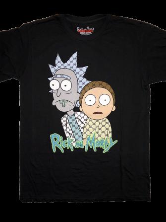 86e106bc Gucci Rick And Morty 2 T-Shirt (Black)