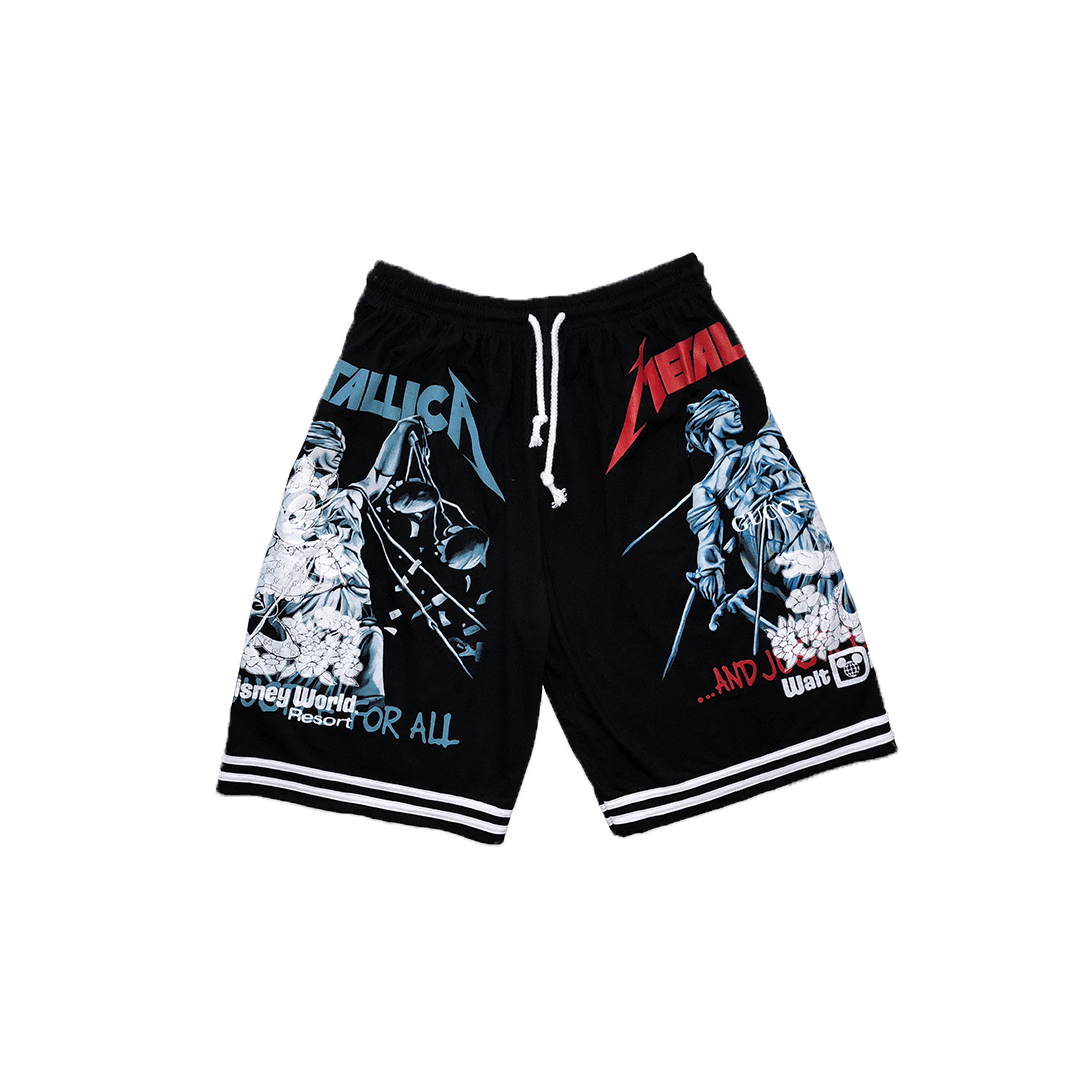 380d2babd Gucci Minnie Metallica Justice For All Stripe Shorts (Black) – Underage