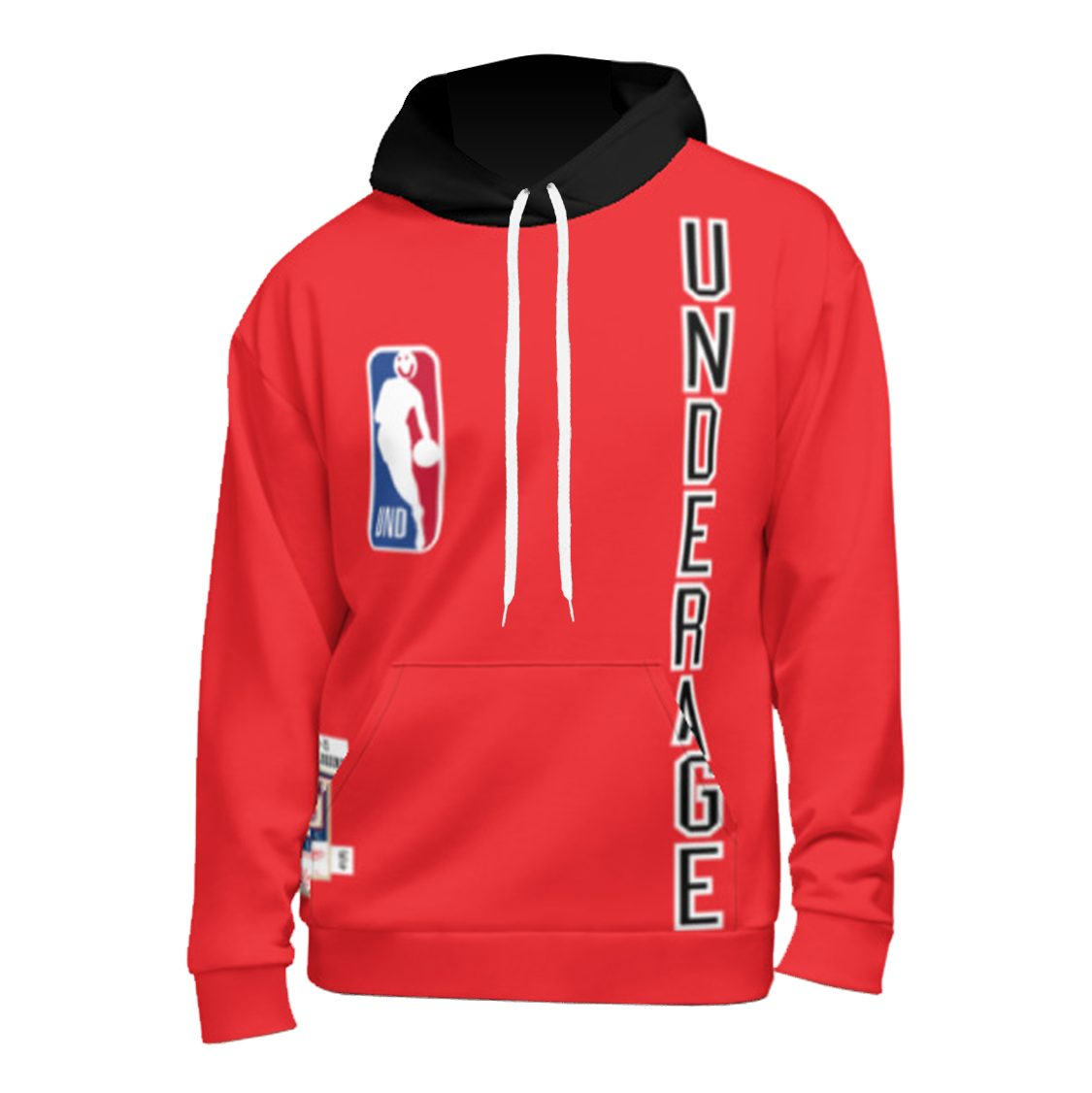 Underage long time classics premiere pullover hoodie red product front