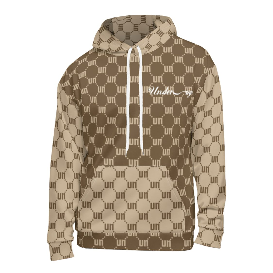 Underage matrix hoodie brown tan product front