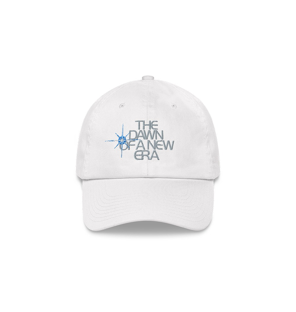 Underage the dawn of a new era hat product white front