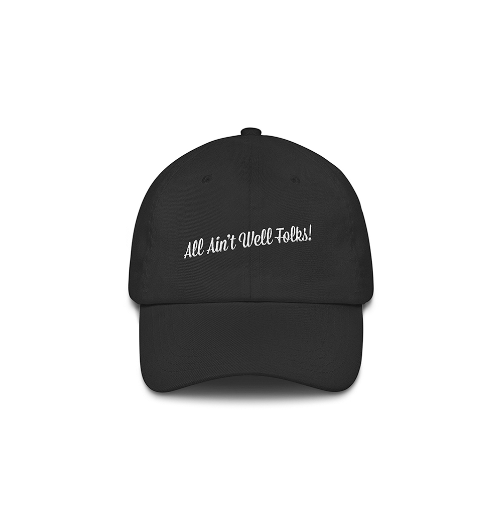 Underage all aint well hat product black front