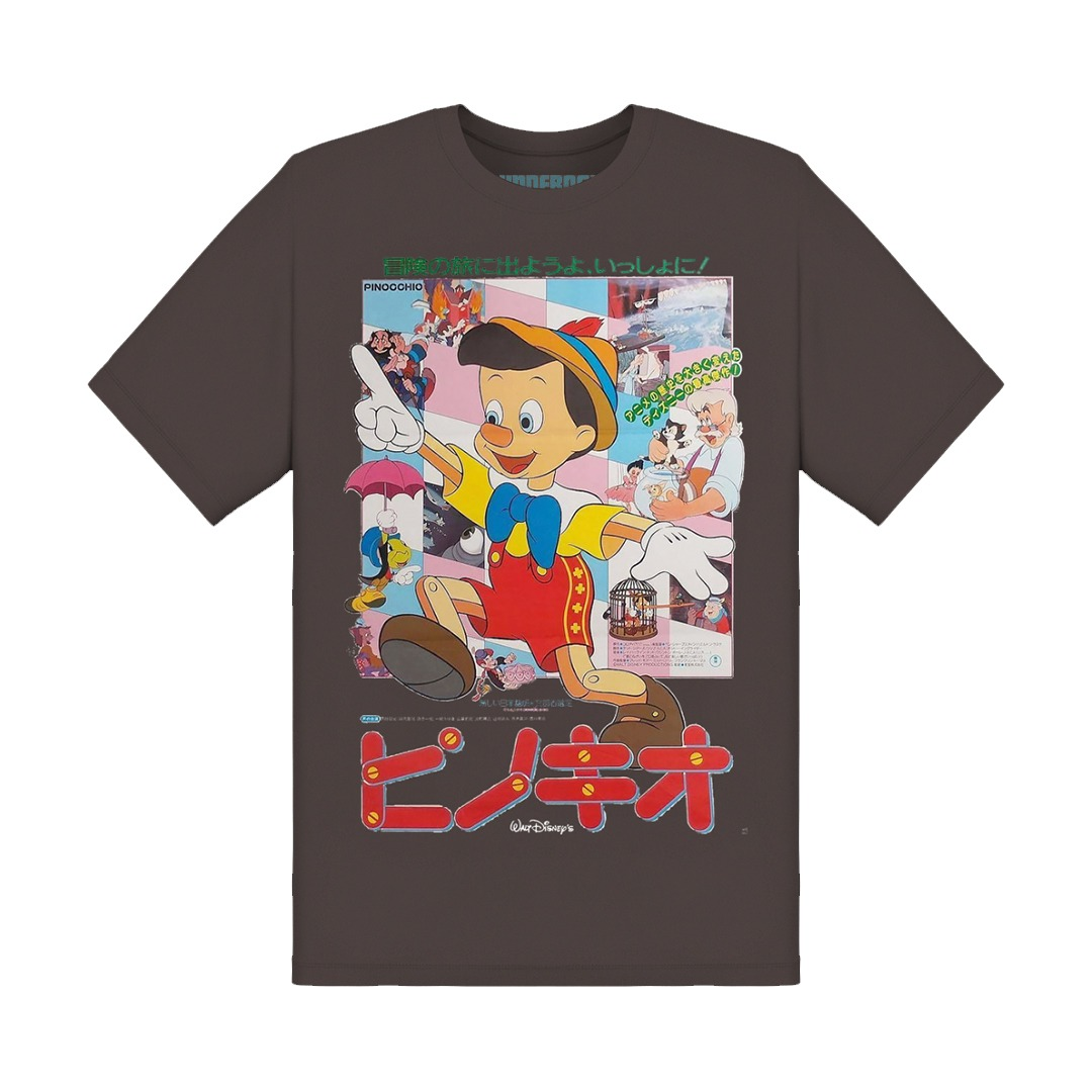 Underage pinocchio japan poster tshirt brown product