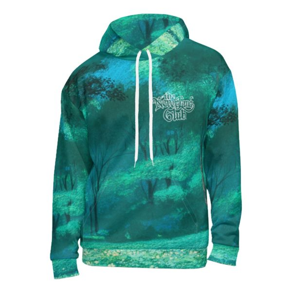 Underage theneverlandclub kidsofallages forested pulloverhoodie product green front
