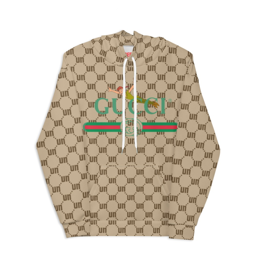 Underage gucci peter pan 2 matrix pullover hoodie product tan front