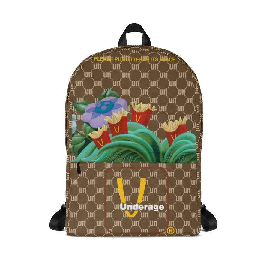 Underage monogram fast fry patch backpack brown product front