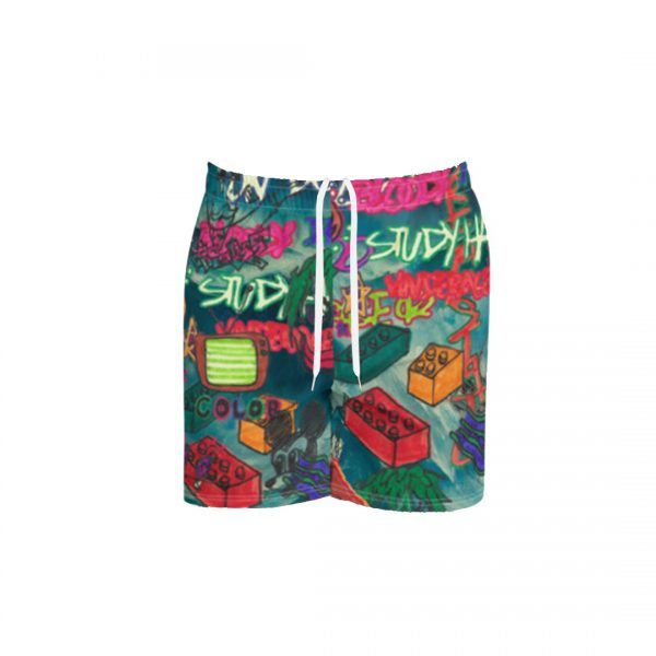 Underage study hall athletic shorts ocean storm product front