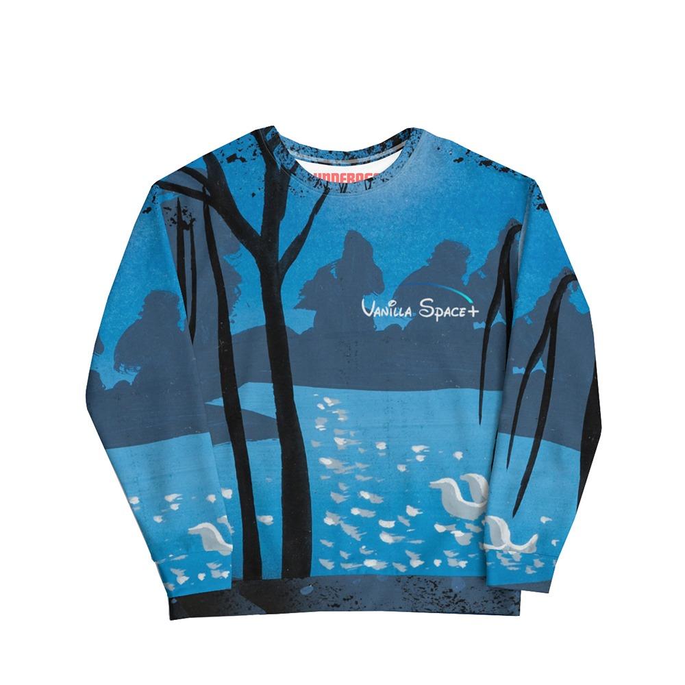 Vanilla space crewneck sweatshirt lake product front