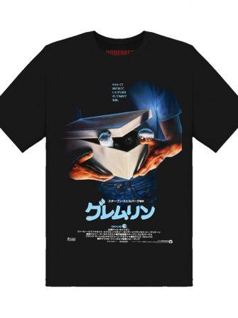 Underage gremlins japan poster tshirt product front black