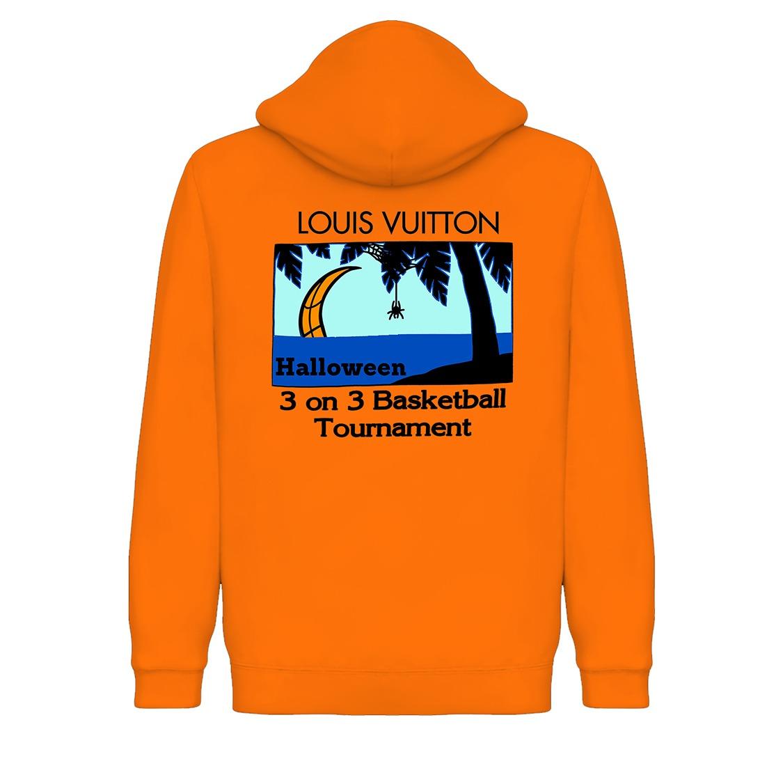 Underage louis vuitton 3 on 3 pullover hoodie halloween product orange back