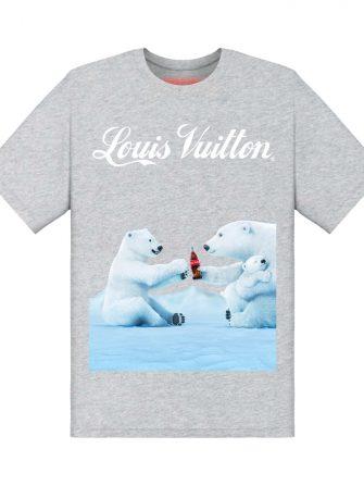 Underage louis vuitton coca cola polar bear tshirt product grey