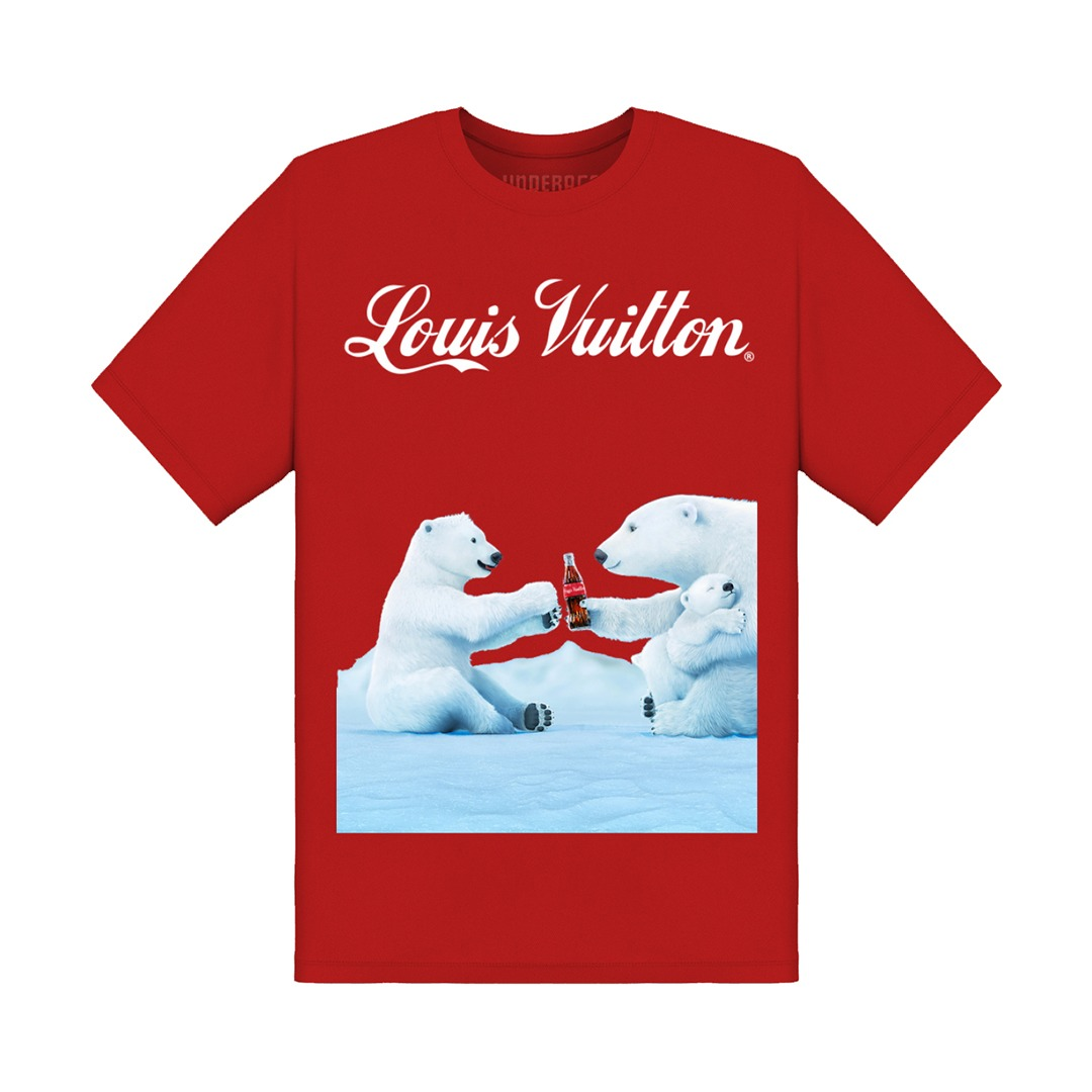 Underage louis vuitton coca cola polar bear tshirt product red