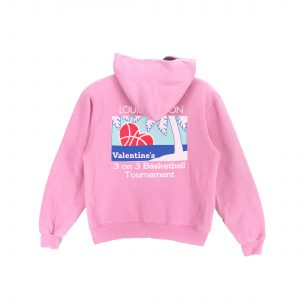 Louis vuitton underage 3 on 3 basketball tournament valentines day edition pullover hoodie product pink back
