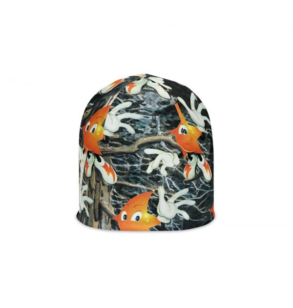 Underage shooting star camo product beanie front