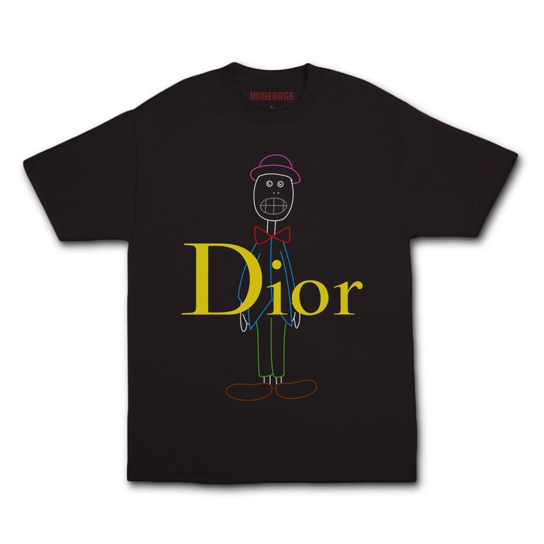 Underage skullhead dior multi tshirt black product