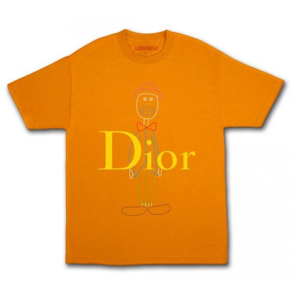 Underage skullhead dior multi tshirt orange product