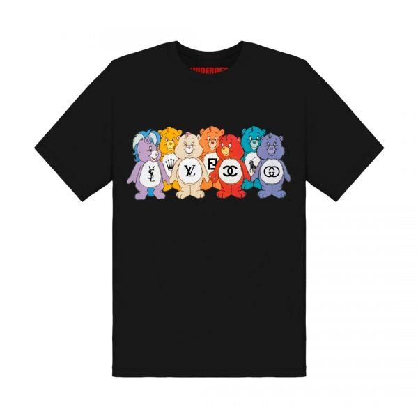 Underage designer care bears tshirt product front black