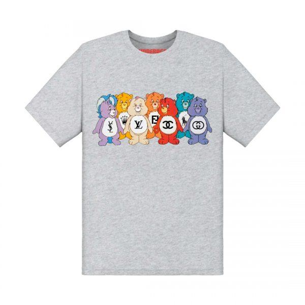 Underage designer care bears tshirt product front heather grey