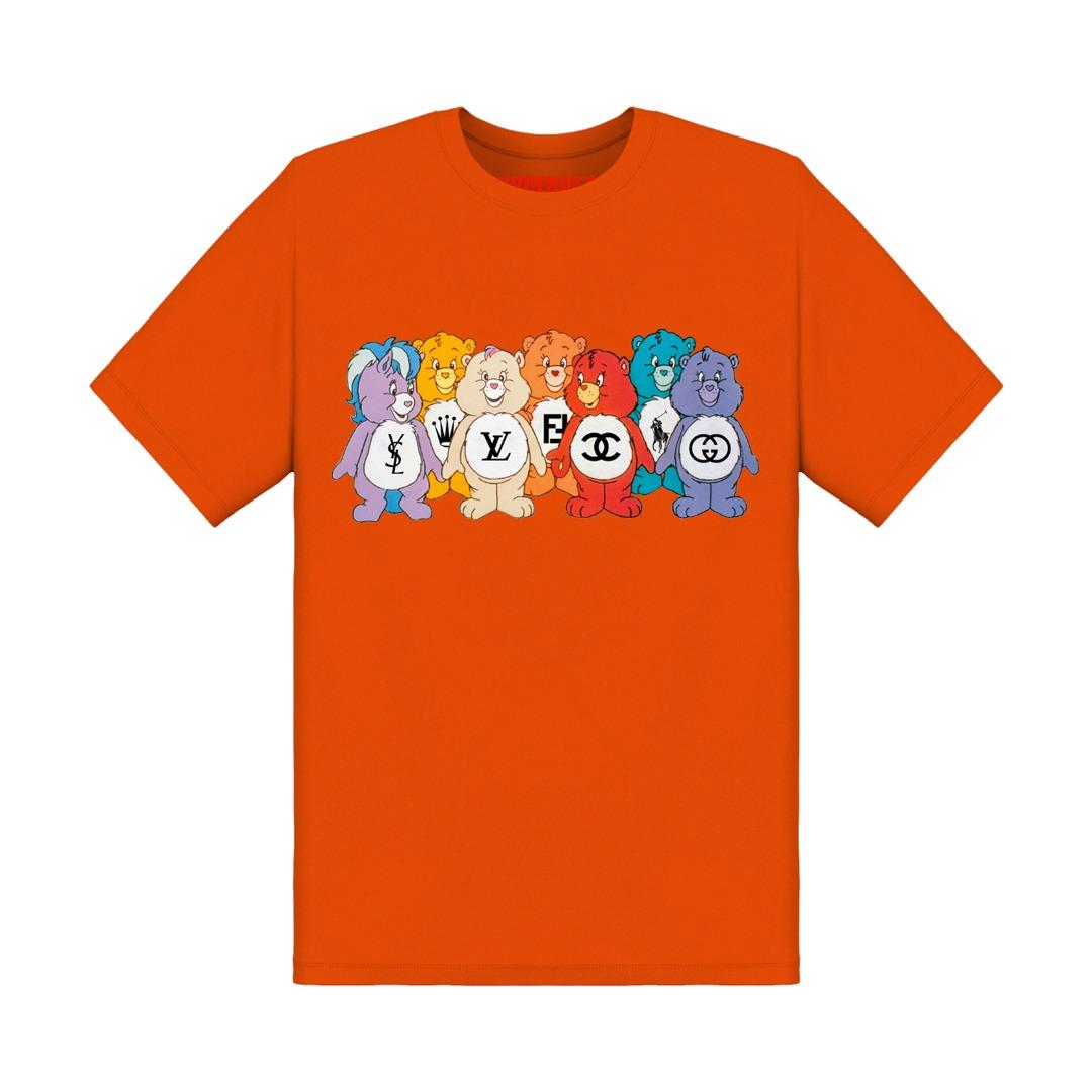 Underage designer care bears tshirt product front orange