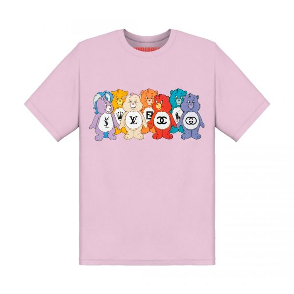 Underage designer care bears tshirt product front pink
