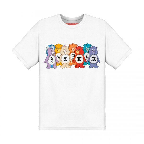 Underage designer care bears tshirt product front white