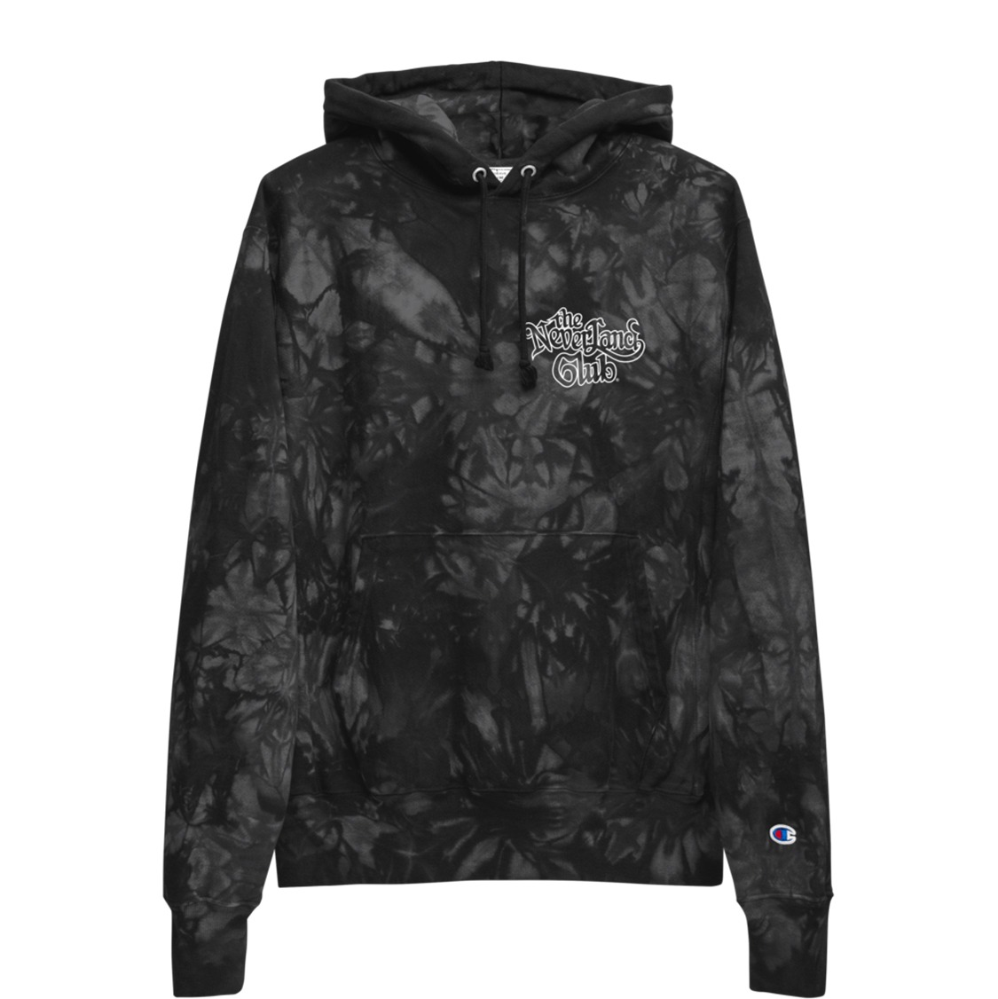 Underage the neverland club champion tie dye pullover hoodie product black front