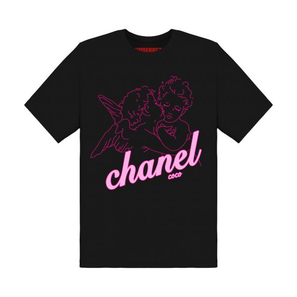 Chanel angels tshirt underage product black front