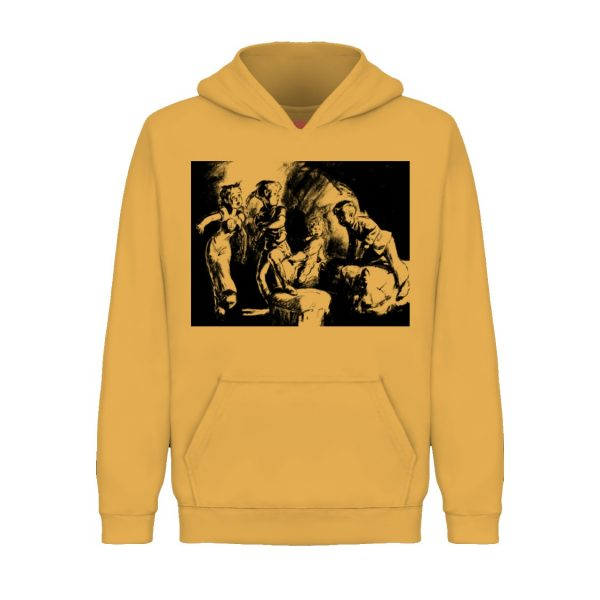 underage darlings hoodie product yellow front