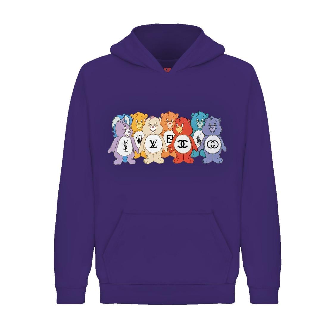 Underage designer care bears hoodie product purple front