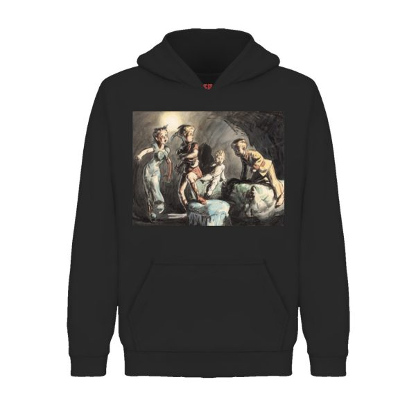 Underage off to dreamland hoodie product black front