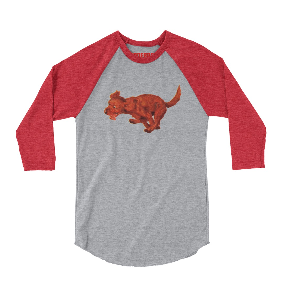 Underage red racing dog 34 length tshirt product red grey