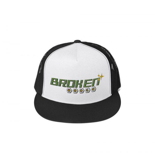 Underage broken world embroidered trucker cap product front