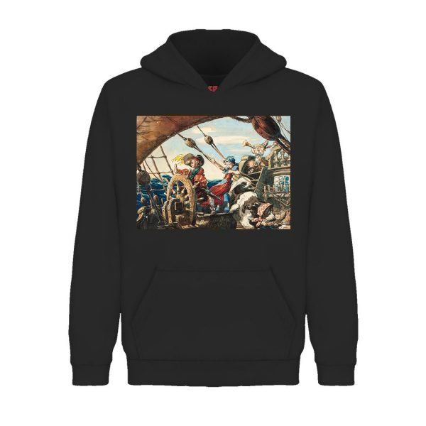 Underage off to dreamland hoodie product black front 2nd edition