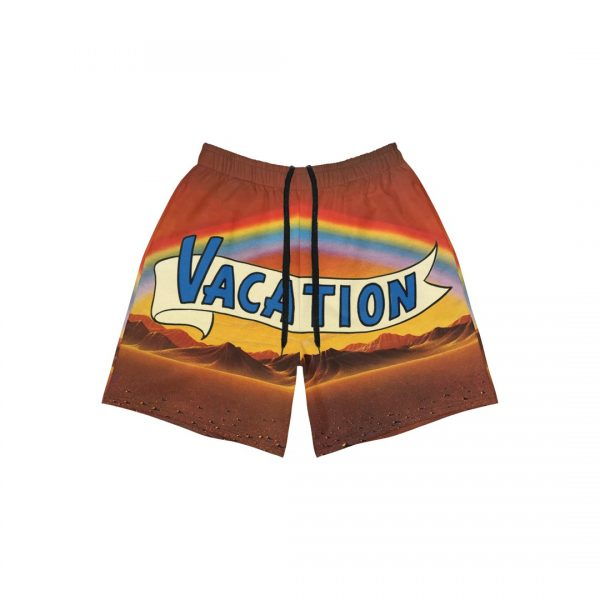Underage desert vacation athletic shorts product front 2 strings