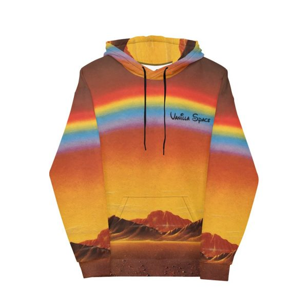 Vanilla space desert vacation hoodie product front