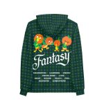 Vanilla Space Fantasy Pullover Hoodie Product Green Back