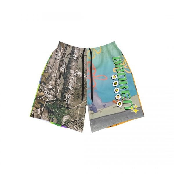 Vanilla space undersea camouflage athletic shorts product front 2 strings