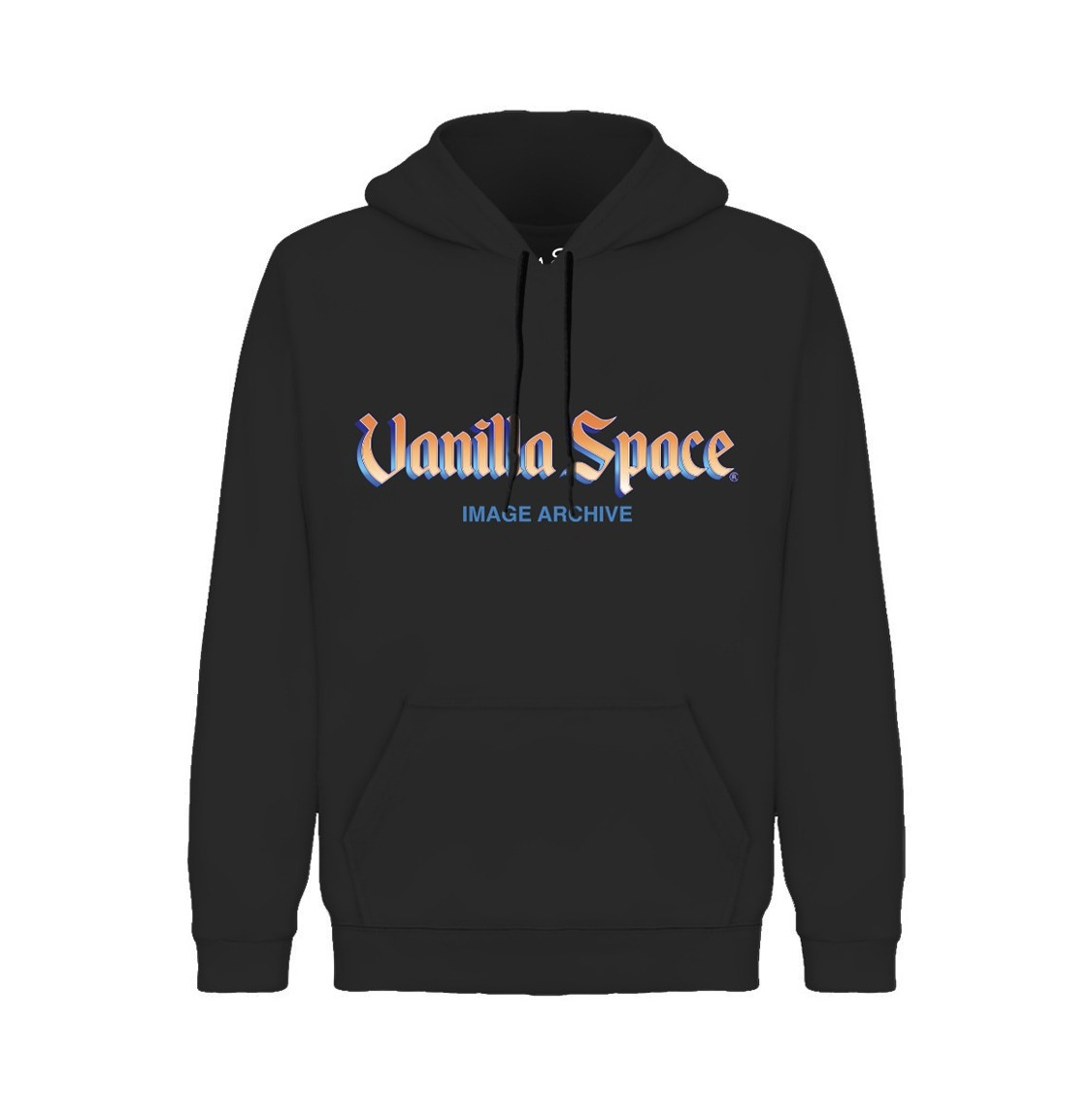 Vanilla space grad ofic image archive hoodie product black front