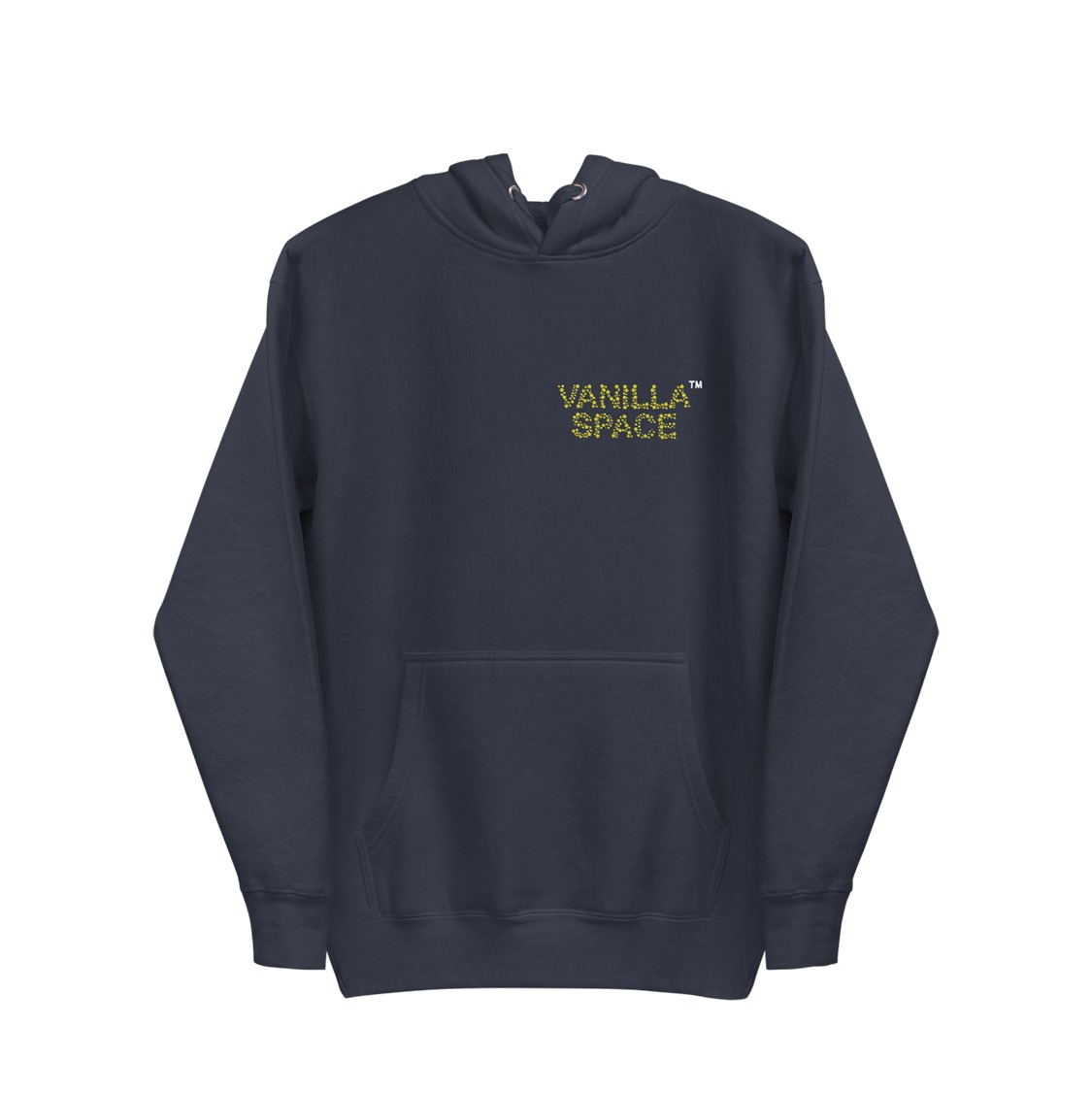 Vanilla space star cluster pullover hoodie product navy front