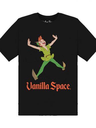 Vanilla space peter pan tshirt black product front