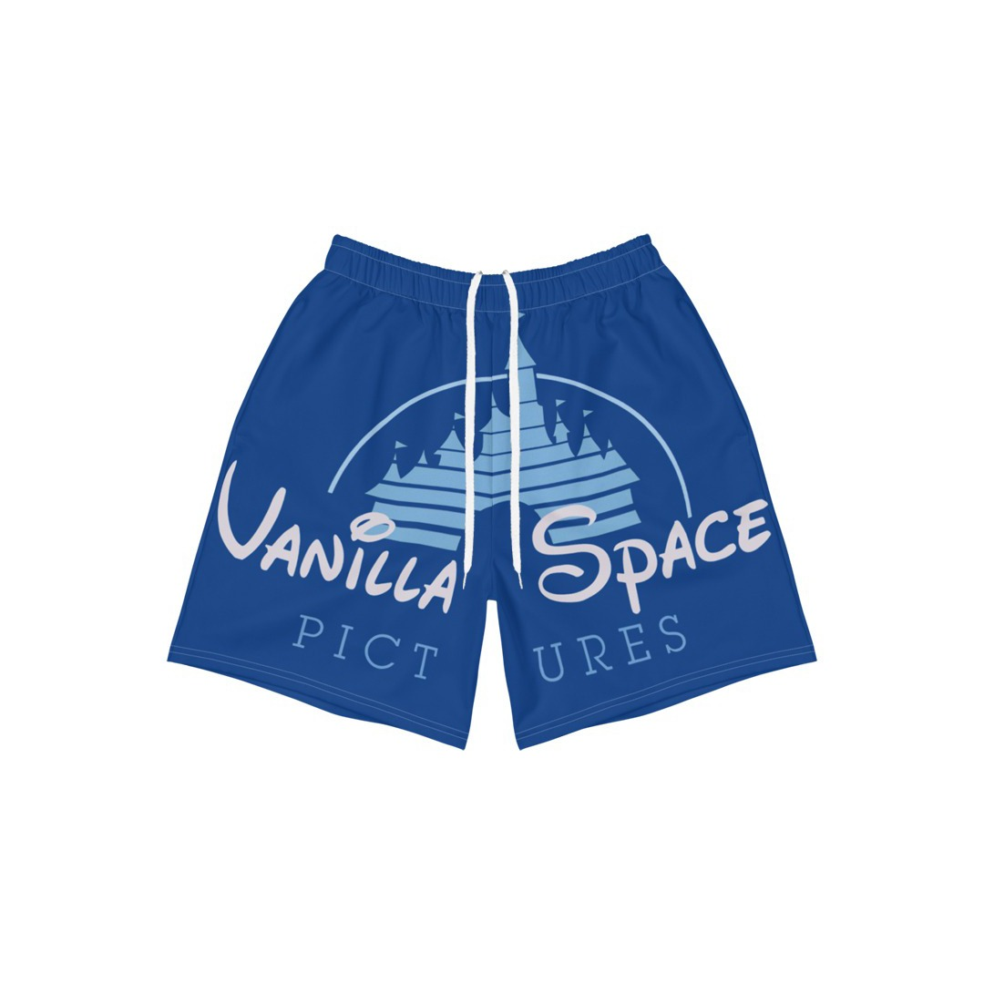 Vanilla space pictures castle logo athletic shorts product front
