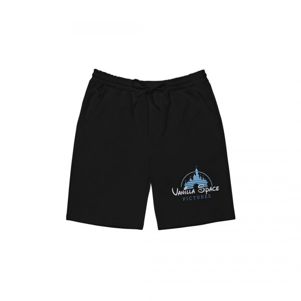 Vanilla space pictures fleece shorts product black front