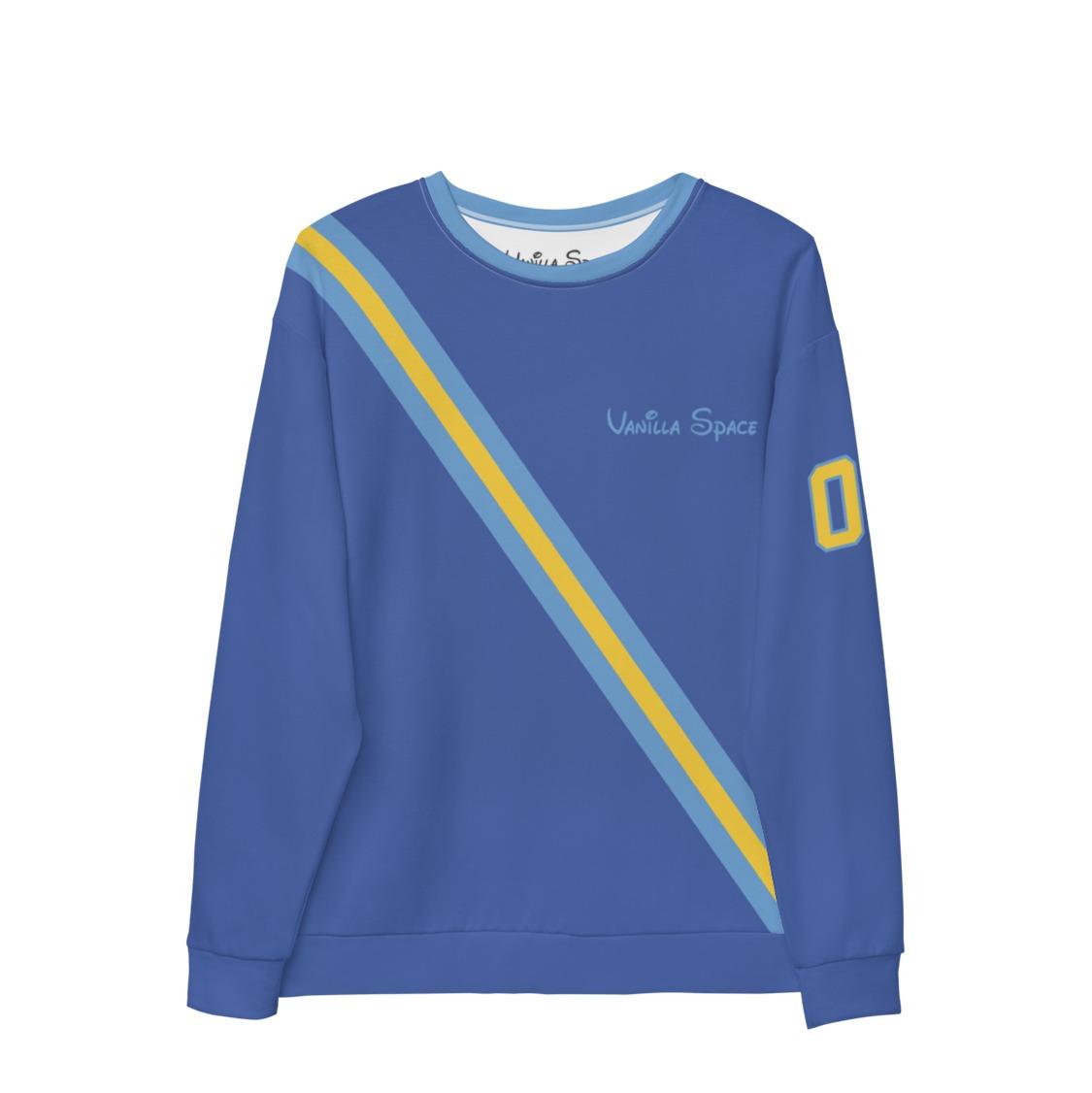 Vanilla space stripe crewneck sweatshirt product mariner blue front