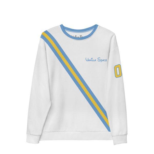 Vanilla space stripe crewneck sweatshirt product white front
